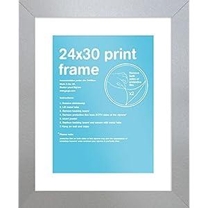 GB Eye Eton PDO Rahmen, schwarz, 24x 30cm-p, Holz, Silber, 24 x 30 cm