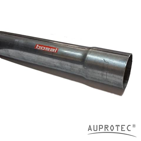 Universal Exhaust Pipe 40 cm Repair Tube straight Ø 50 mm one end flared