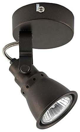 Mathias 3360160 Dock Spot 1 Lumière 35 W GU10 230 V Rouille Fer Diamètre 8 cm Hauteur 13 cm