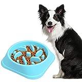 Belking Anti Schling Hundenapf, Langsam Essen Schüssel, Interaktive schüssel, Rutschfest Fütterung Schüssel, Hundenapf/Katzennapf - Blau