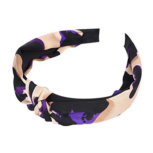 kolila Billig Stirnband Ausverkauf!!!Damen Mode Leopardenmuster Stretchy Twisted Niedliches Haarband Zubehör Haar Klammern(Lila)