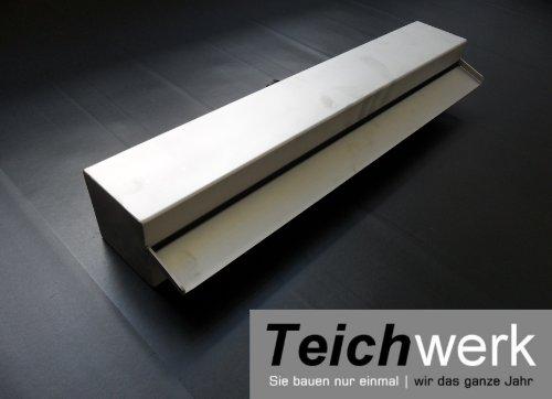 TEICHWERK Edelstahl Wasserfallschale 60 cm breit | Wasserspeier