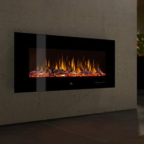 Noble Flame Vegas 770 - Elektrokamin Wandkamin Kaminofen Kamin - Wandmontage Fernbedienung - Verschiedene Breiten - schwarz