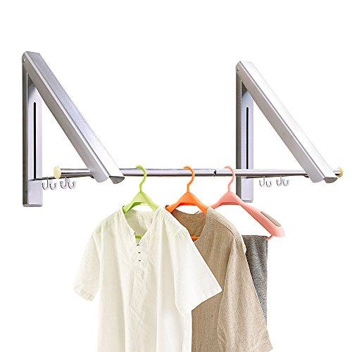 PUNICOK Kleiderhaken Klappbarer Kleiderhaken Wand-Garderobenhaken Garderobenhaken Wandhaken, Silber für Wohnzimmer, Bad, Schlafzimmer,...