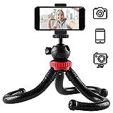 Newdora Mini Trépied Pliable pour Smartphone, Caméra, iphone inclut Le Support de Téléphone Mobile Universel pour Vidéo et Photo