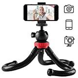 Newdora Stativ Kamera Stativ für Mobiltelefone Smartphone Fotoausrüstung SLR Kamera Reise Stativ Tripod flexibel leicht
