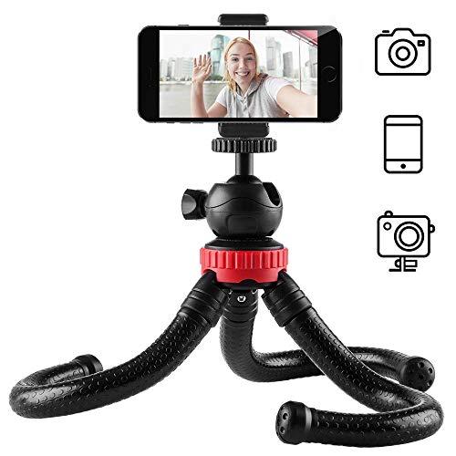 Newdora Stativ Kamera Stativ für Mobiltelefone Smartphone Fotoausrüstung SLR Kamera Reise Stativ Tripod flexibel leicht ohne camera mount(ohne Adapter für Action-Kamera & Fernsteuerung) -