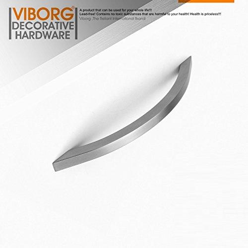 Viborg (2Stück) Deluxe massiv Edelstahl 304Moderner Küche Schrank Schrank Tür Pull Griff Schublade zieht Griffe sv727, Hole-to-hole: 160mm -