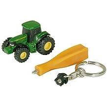 rob Tomy Sandkasten Spielzeugset John Deere Mini Bagger und Kipplader in grün Radsport Helme