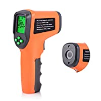FOSHIO Digital Photo Tachometer Portable Non-Contact RPM Tach Gauge Gun with Reflective Tape High Precision 10-99999RPM Battery Excluded