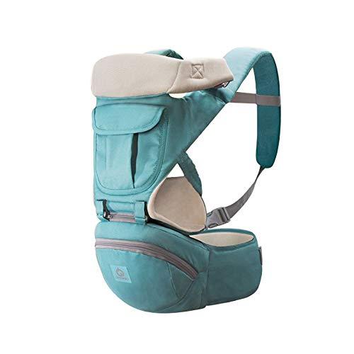 Fousamax Rucksack für Baby und Kinder, atmungsaktiv, ergonomisch mit Hüftsitz, Kapuze für Kleinkind bis Kleinkind