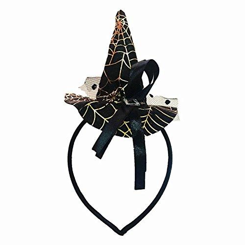 mit Spinnweben, Hexenhut, Haarreifen, für Damen und Mädchen, Halloween, Party-Requisiten ()