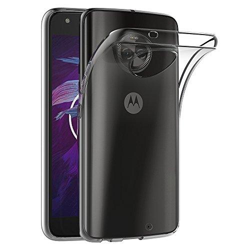 AICEK Coque Motorola Moto X4, Transparente Silicone Coque pour Moto X4 Housse Silicone Etui Case (5,2 Pouces)
