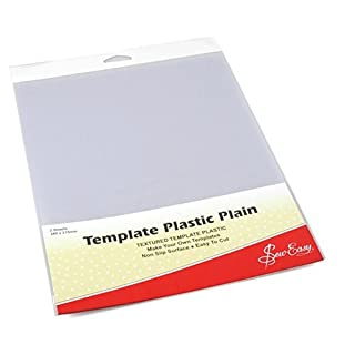 Sew Easy Plastic Template Plain for Quilting Patchwork Making Templates Non Slip ER398