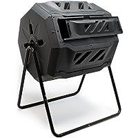 Barril de compostaje, compostador de tambor giratorio, capacidad de 160 l, compost,