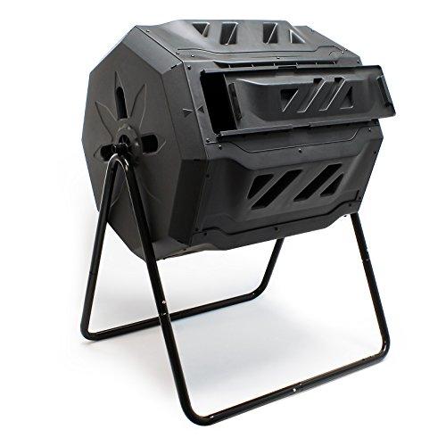 Photo Gallery wiltec compostiera girevole da giardino composter rotante a due scomparti 160 litri