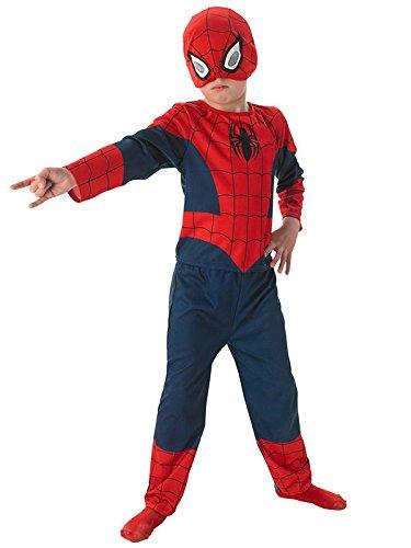 Spiderman Kinderkostüm Comic dunkelblau rot S