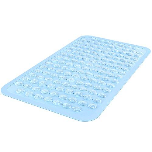 HOMFA Badewannenmatten aus TPR Gummi Rutschfeste Badewanneneinlage Badematte Duschmatte mit Saugnäpfen und Massagepunkte, Antikbak (Blau)