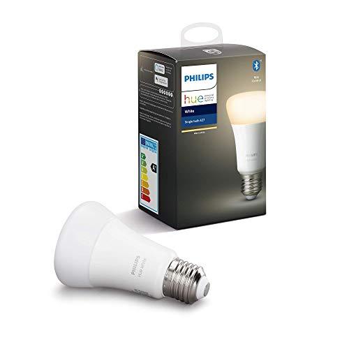 Philips Hue Ampoule LED Connectée White E27 Compatible Bluetooth, Fonctionne avec Alexa