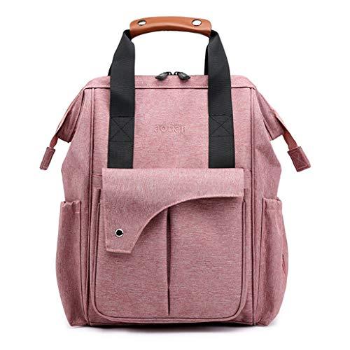 XNBZW Rucksack Mummy Stilltasche Große Kapazität Windel Aufladbare Baby Tasche Reiserucksack Rosa