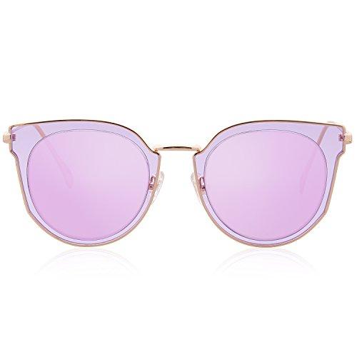 890ab1b42e0c SojoS Fashion Polarized Sunglasses UV Mirrored Lens Oversize Metal Frame  SJ1057