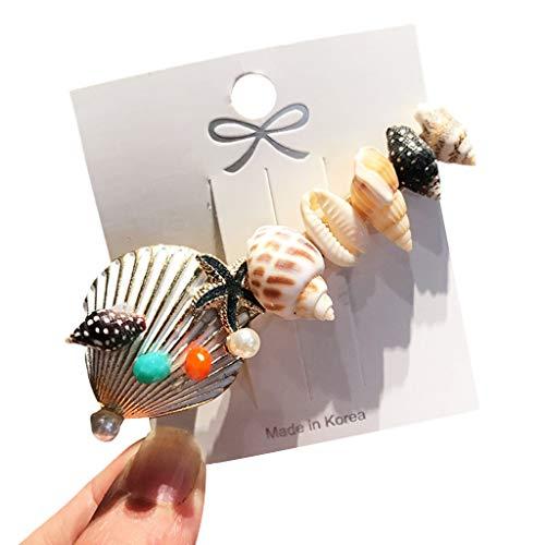 Viesky Barock Ozean Stil Frauen Haarspange Candy Farbe Tropfen Öl Imitation Perle Hairgrip Seestern Muschel Verziert Styling Haarspange