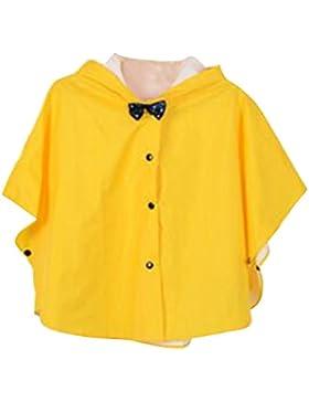 Highdas Principessa Bow Bambini Poncho Spesso Nylon Bambini Raincoat