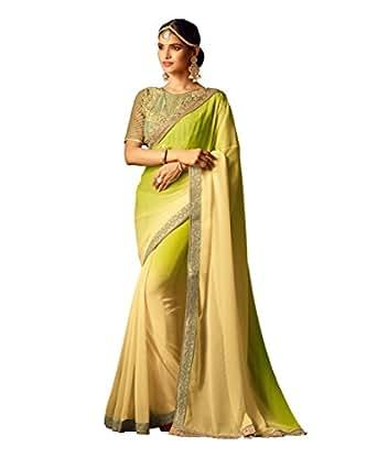 Takshaya Sarees Women's Silk Saree With Blouse Piece (SI20015EN_Yellow)