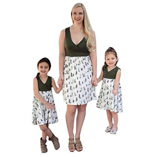 Partnerlook Mutter Tochter,LUCKDE Mutter Tochter Kleidung Baby Mädchen Kleider Sommerkleid...