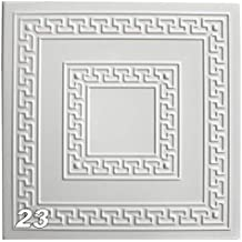 Decken Styroporpaneele 112 Platten = 28 m2 Dekor Paneele 50 x 50 cm DECOSA Styropor Deckenplatten MALAGA in Putz Optik Edle Deckenpaneele wei/ß