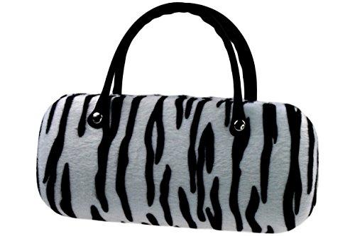 Brillenetui Damen wie kleine Handtasche samtige Oberfläche wie Fell - auch innen Tiger
