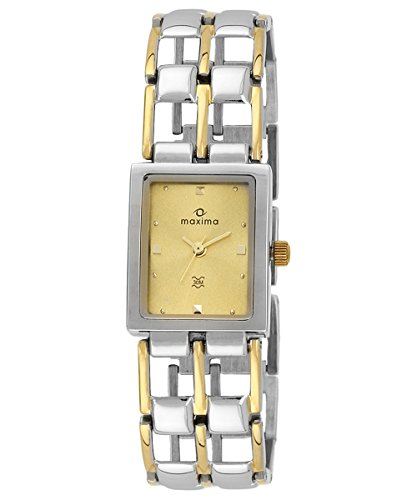 Maxima Gold Analog Gold Dial Women's Watch - 17622BMLT image