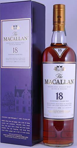 Macallan 1995 18 Years Sherry Oak Highland Single Malt Scotch Whisky 43,0{5a97cca8cf7c00e919b82183fa7c26942e64cea551e7ba5f89d6e0255cc1f4ed} Vol. - seltene Abfüllung für Remy Cointreau Inc. New York