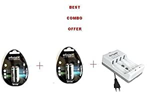 Combo of Envie 4 X AAA 1100MAH Rechargeable batteries+ECR-4 charger