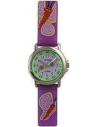Trendy Kiddy - KL28 - Montre Fille - Quartz Analogique - Cadran Multicolore - Bracelet Plastique Violet