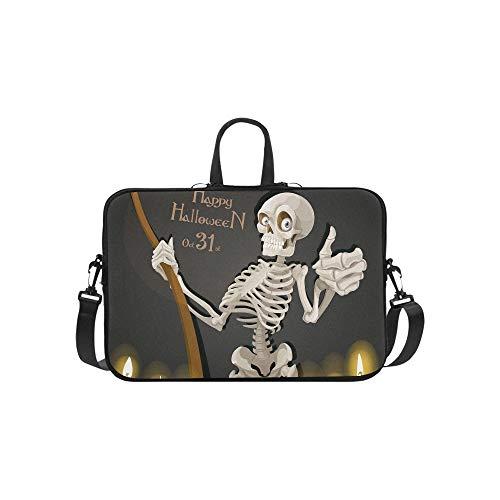 Tod Skelett Sense Halloween Party Einladung Muster Aktentasche Laptoptasche Messenger Schulter Arbeitstasche Crossbody Handtasche Für Geschäftsreisen (Halloween Party-einladungen Für)