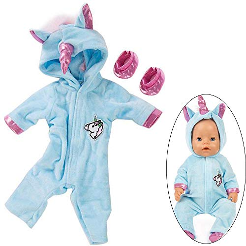 Baby Born Einhorn Kostüm - Ouinne Uinicorn Kleidung Outfits Puppenkleidung Kostüm