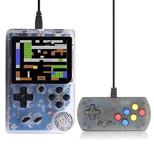 Jamicy  Handheld Spielkonsole, Retro-Spielekonsole, Integrierte 168 Klassische Spiele, 3,0 Zoll Bildschirm (Weiß)