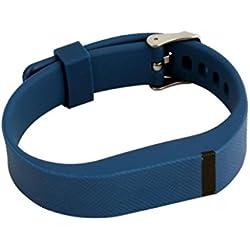 Malloom Muñequeras de recambio banda de reloj correa para Fitbit Flex pulsera Wristband Con Metal hebilla (azul oscuro)
