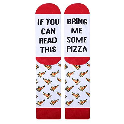 Jielucix Lustige Socken aus Baumwolle Geschenk für Männer (Pizza 1 Paar, 43-46)