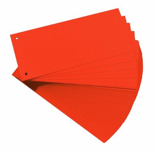 Herlitz 10843647 Trennstreifen, 100-er Packung, Orange
