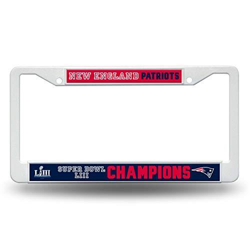 Rico NFL New England Patriots Super Bowl LIII Champions Kunststoff-Kennzeichenrahmen Champions Auto-magnet