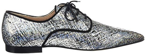 Hannibal Laguna Damen Eliana Geschlossene Schuhe mit Absatz Mehrfarbig Farben (Pringles Silber / ante negro)