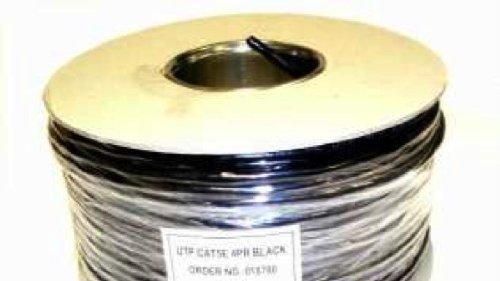 100 M UV WEBRO Stalldecke CAT5e \'UTP\' PVC schwarz