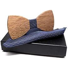 [Effetto garantito !] Papillon da uomo per eccellenza, questo accessorio ti renderà chic e distinto/Dimensione regolabile/Più colori e stili disponibili …