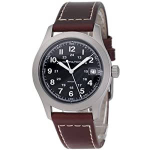 Hamilton H68481533 – Reloj analógico de caballero de cuarzo con correa de piel marrón – sumergible a 30 metros