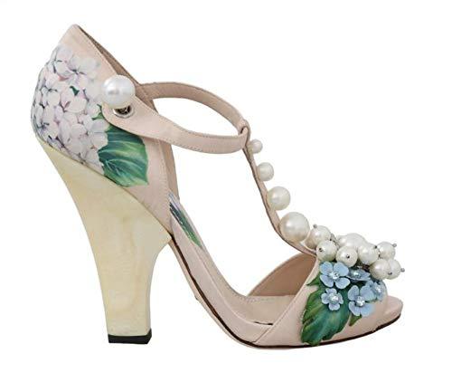 Dolce & Gabbana - Damen Sandalen - Beige Silk Hortensia Pearl Sandal - EU 39