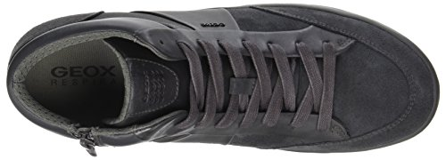 Geox  U Smart D, Chaussons montants homme Gris (Anthracite)