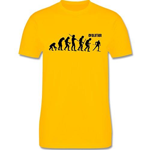 Evolution - Skiabfahrt Evolution - Herren Premium T-Shirt Gelb