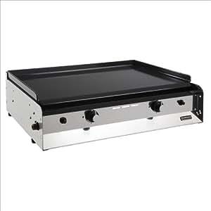 eno force10 2 plancha gaz 2 feux acier emaille 6400 w caisson cuisine maison. Black Bedroom Furniture Sets. Home Design Ideas
